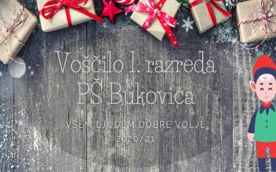 Voščilo 1. razreda PŠ Bukovica